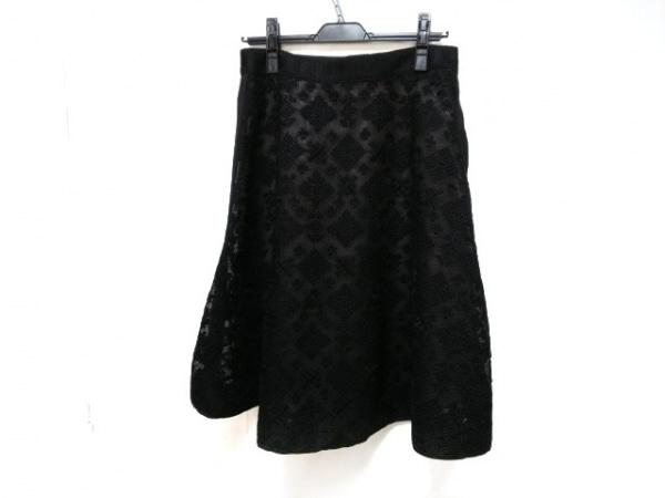 ランバンコレクション スカート サイズ40 M レディース美品  黒 レース