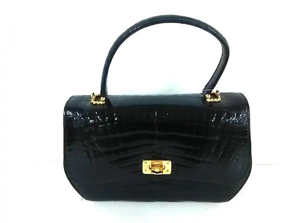 KWANPEN(クワンペン) ハンドバッグ 黒 クロコダイル