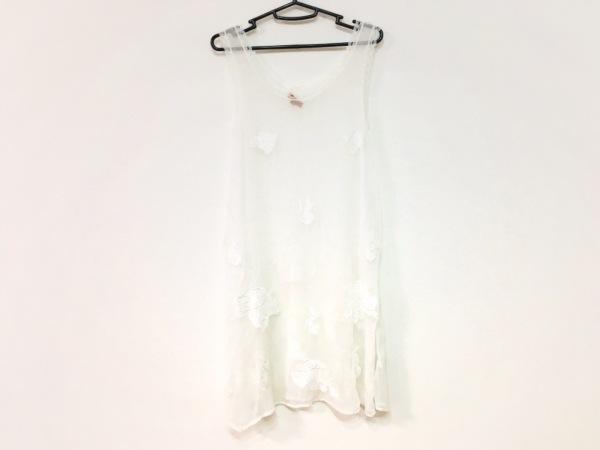 Chan Luu(チャンルー) ワンピース サイズM レディース 白 シースルー/刺繍