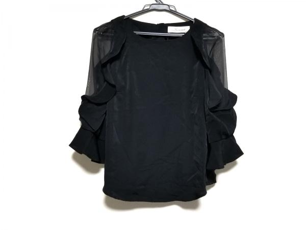 snidel(スナイデル) 七分袖シャツブラウス サイズF レディース美品  黒 シースルー袖
