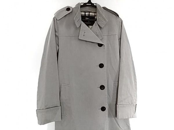 バーバリーロンドン コート サイズ38 L レディース ライトグレー 冬物