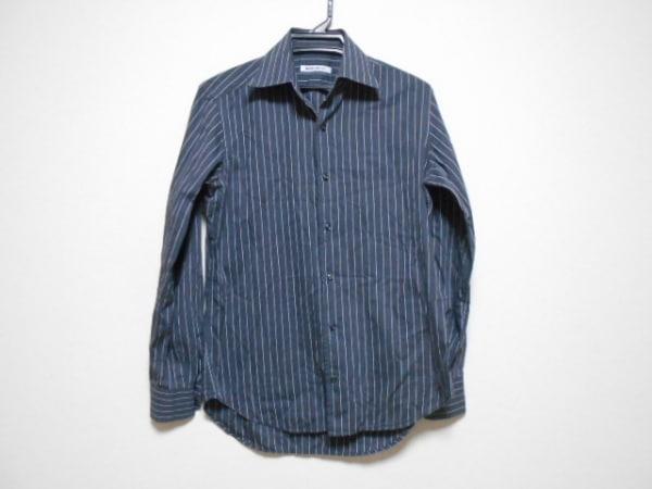 ナラカミーチェ 長袖シャツ サイズS メンズ ダークグレー×グレー ストライプ