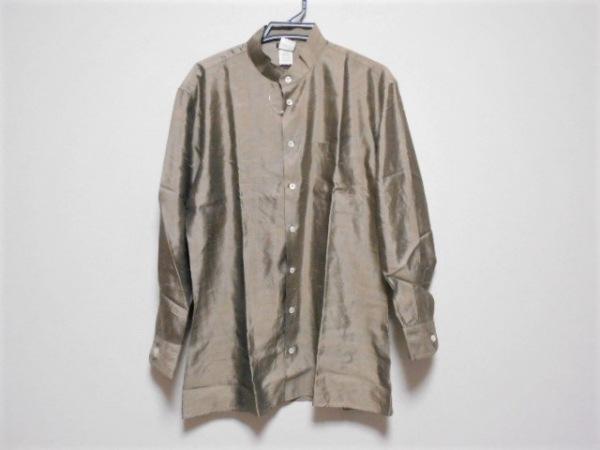 GIORGIOARMANI(ジョルジオアルマーニ) 長袖シャツ サイズ40 M メンズ ベージュ シルク