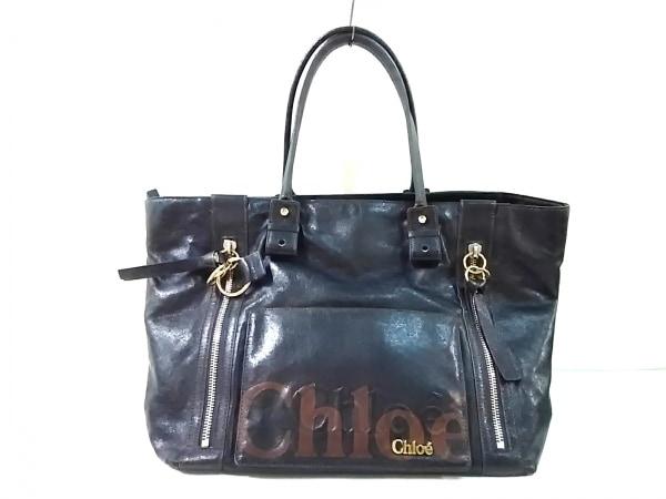 Chloe(クロエ) ハンドバッグ エクリプス 黒×ブラウン 合皮