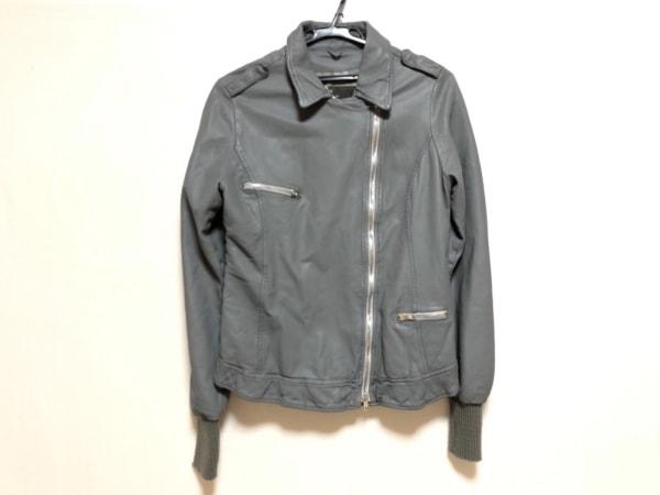 WLG(ダブルエルジー) ライダースジャケット サイズ42 L レディース グレー レザー