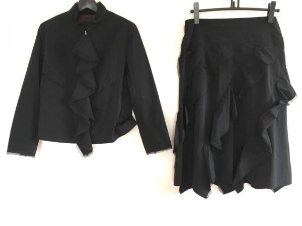 NERO(ネロ/センソユニコ) スカートスーツ サイズ40 M レディース 黒 フリル