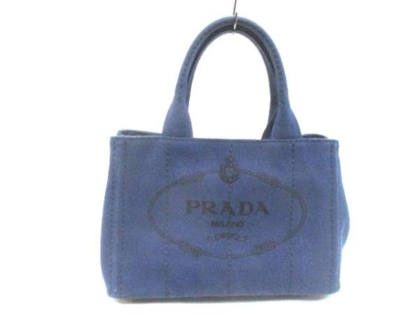 PRADA(プラダ) トートバッグ CANAPA 1BG439 ネイビー キャンバス