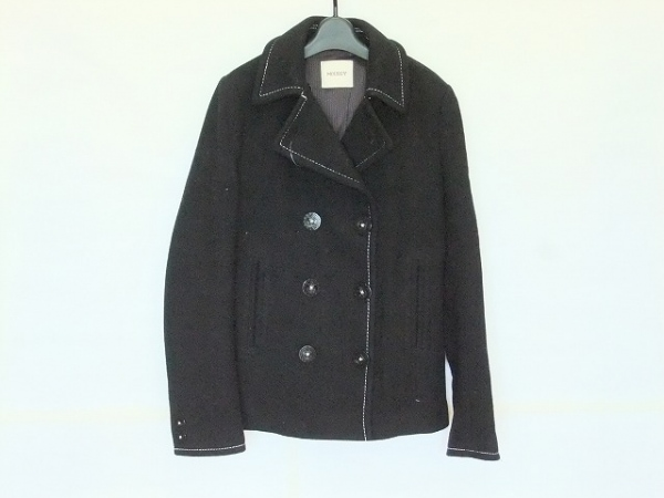 moussy(マウジー) Pコート サイズ2 M レディース 黒 冬物