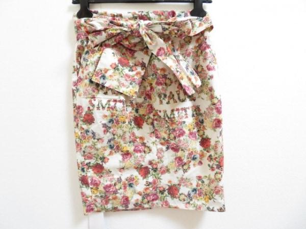 ポールスミス スカート サイズ38 L レディース アイボリー×レッド×マルチ 花柄