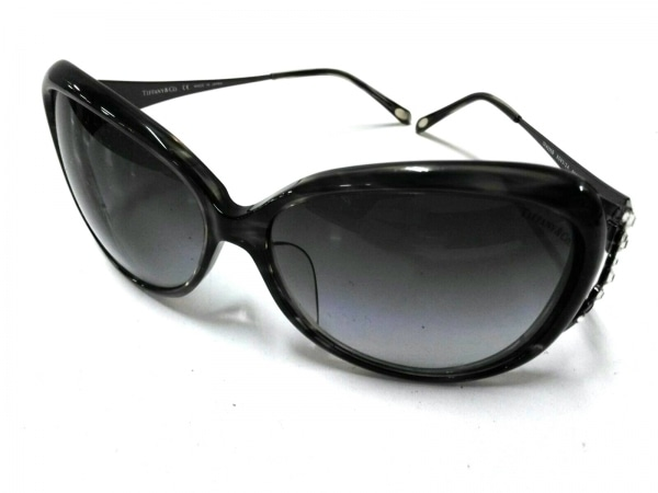 ティファニー サングラス TF435B 黒 ラインストーン プラスチック×金属素材