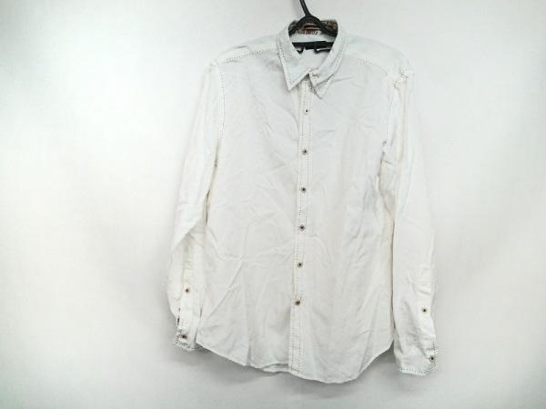 PaulSmith(ポールスミス) 長袖シャツ サイズM メンズ美品  白×ダークブラウン 花柄