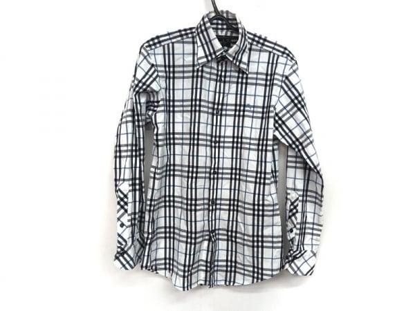 バーバリーブラックレーベル 長袖シャツ サイズ1 S メンズ チェック柄
