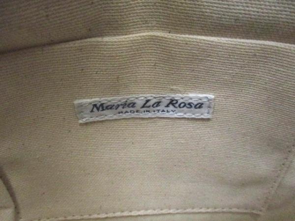Maria LA Rosa(マリア・ラ・ローザ) ショルダーバッグ美品  アイボリー×グリーン×黒
