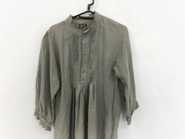 Cloth&Cross(クロス&クロス) ワンピース レディース美品  カーキ ロング丈