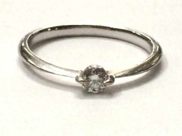 スタージュエリー リング美品  K18WG×ダイヤモンド 1Pダイヤ/0.1カラット