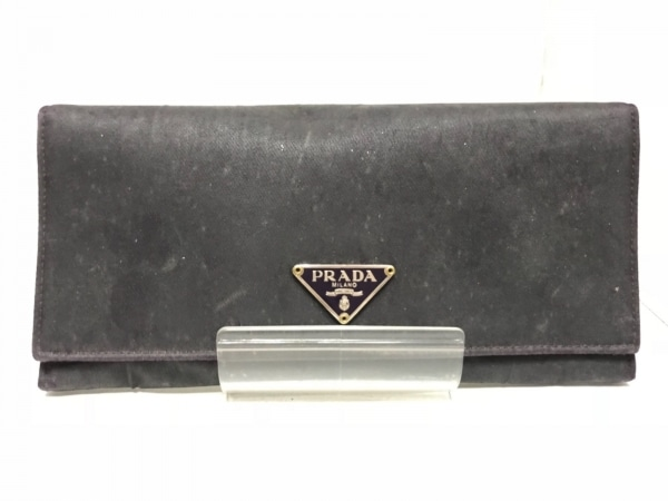 PRADA(プラダ) 長財布 - M201 黒 ナイロン