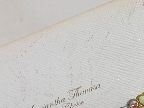 サマンサタバサプチチョイス パスケース アイボリー ラインストーン 6