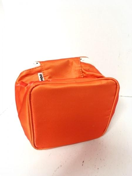 SAZABY(サザビー) バニティバッグ オレンジ×白 ナイロン 4