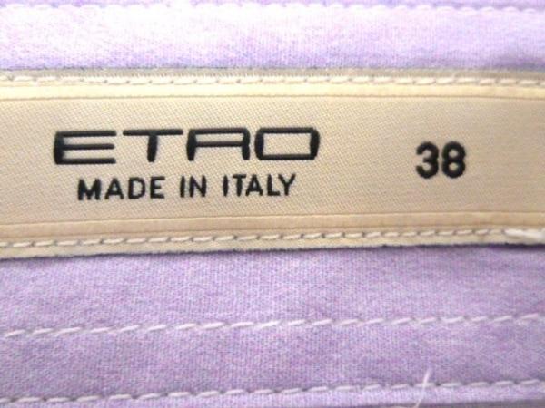 ETRO(エトロ) 長袖シャツブラウス サイズ38 S レディース パープル×白×マルチ