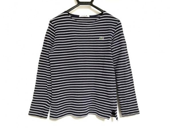Lacoste(ラコステ) 長袖Tシャツ サイズ2 M メンズ ダークネイビー×白 ボーダー
