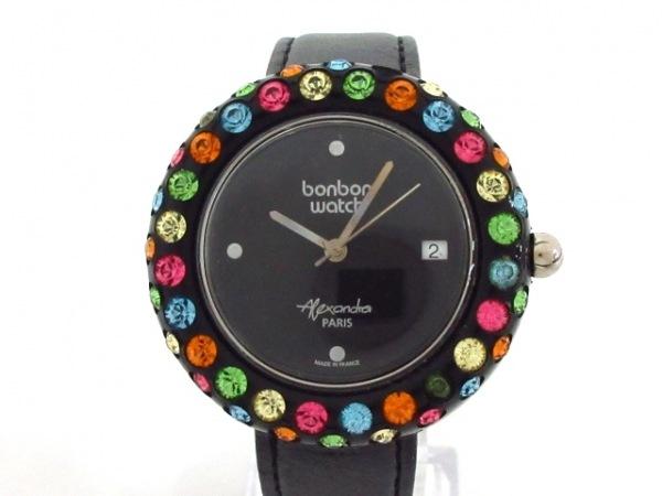 BONBONWATCH(ボンボンウォッチ) 腕時計 - レディース 黒