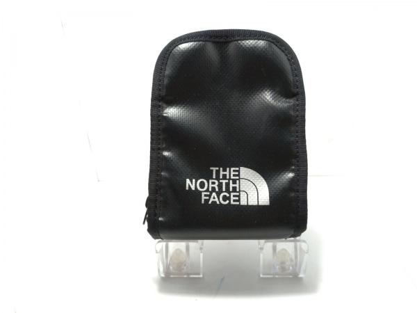 ノースフェイス シガレットケース 黒×シルバー PVC(塩化ビニール)×ナイロン