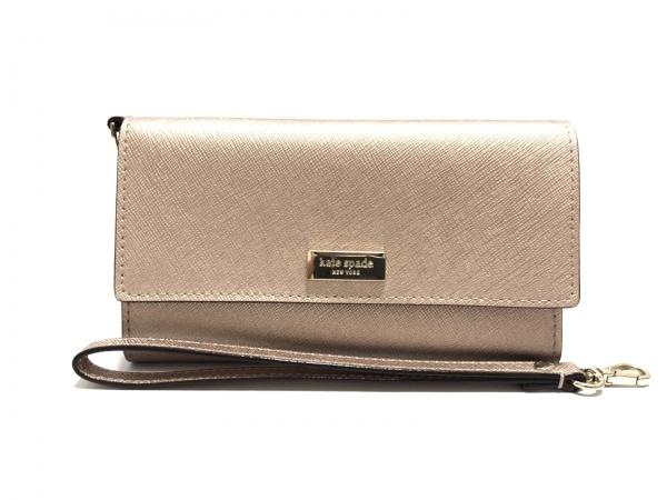 ケイトスペード 財布美品  ニューベリーレーン WLRU2348 ピンクシルバー レザー