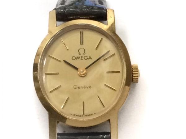size 40 09e99 3b660 OMEGA(オメガ) 腕時計 ジュネーブ - レディース 社外革ベルト ゴールド