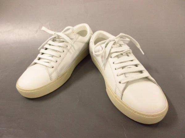 サンローランパリ スニーカー 36 レディース美品  白 刺繍/インソール取り外し可