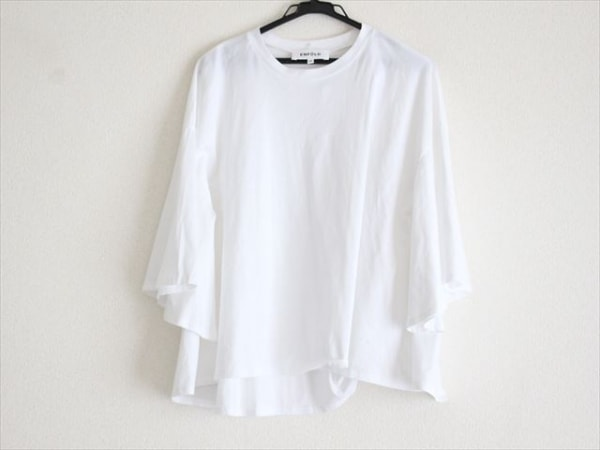 ENFOLD(エンフォルド) 半袖カットソー サイズ38 M レディース美品  白