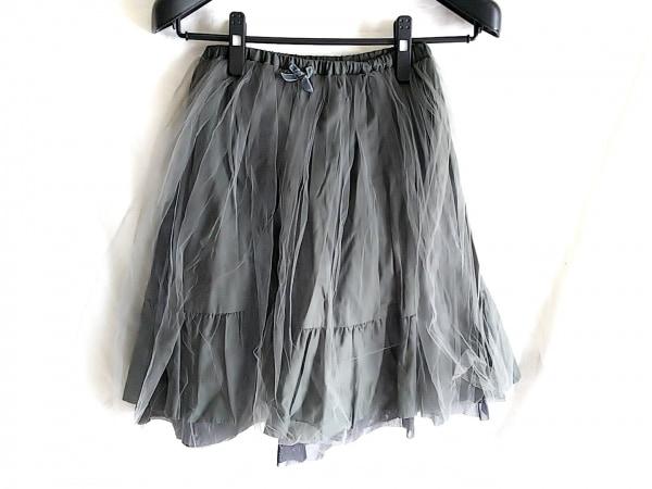 Bilitis(ビリティス) スカート サイズ36 S レディース グレー チュール/リボン