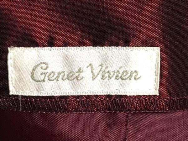 GENETVIVIEN(ジュネビビアン) ドレス サイズ9 M レディース ダークレッド