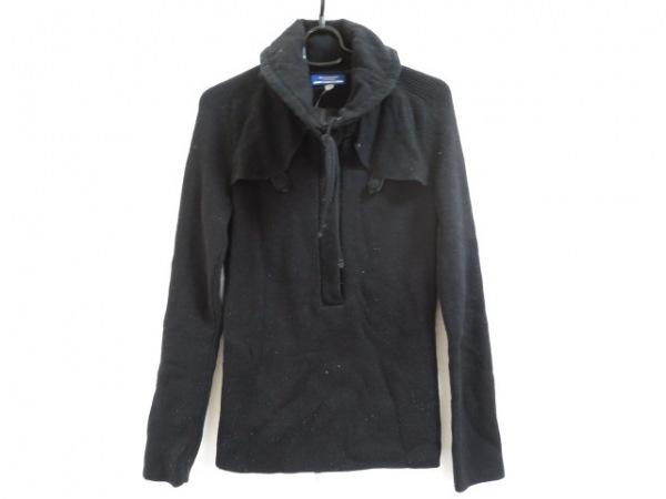 バーバリーブルーレーベル 長袖セーター サイズ38 M レディース 黒