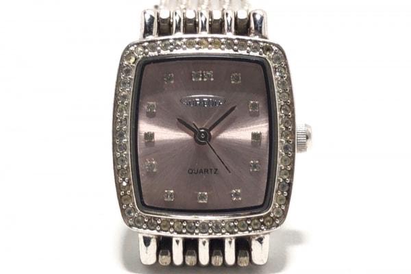 AUREOLE(オレオール) 腕時計 77SW-459L レディース ラインストーンベゼル ピンク