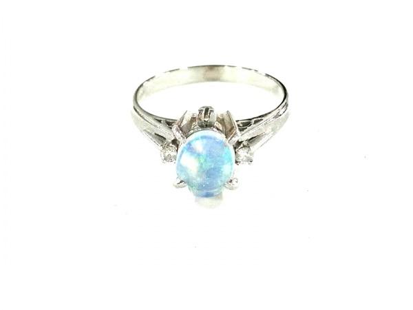 ノーブランド リング美品  Pt900×ダイヤモンド×カラーストーン 総重量:3.9g