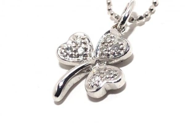 FolliFollie(フォリフォリ) ネックレス K18WG×ダイヤモンド 0.05カラット