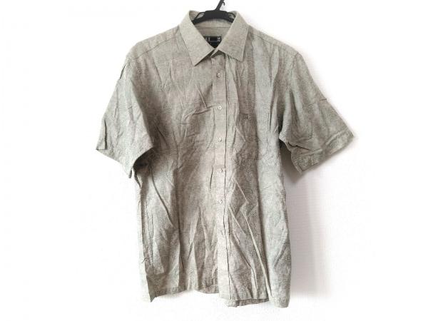 DAKS(ダックス) 半袖シャツ サイズL メンズ ベージュ×ライトグリーン