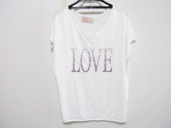 Rady(レディ) 半袖Tシャツ サイズF レディース 白×ピンク×シルバー