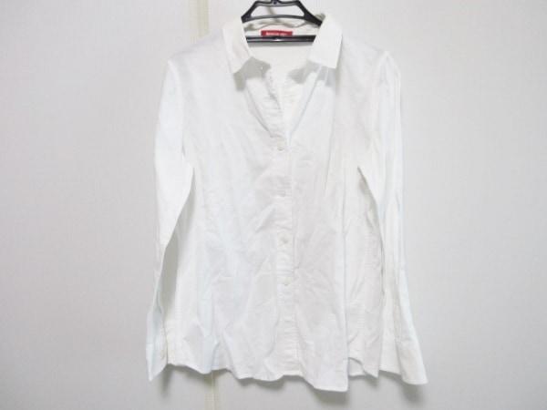 アプワイザーリッシェ 長袖シャツブラウス サイズ2 M レディース 白 綿