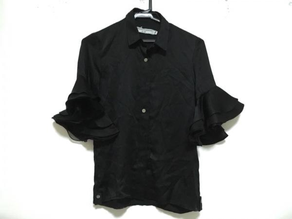 オープニングセレモニー 半袖シャツブラウス サイズXS レディース美品  黒 フリル