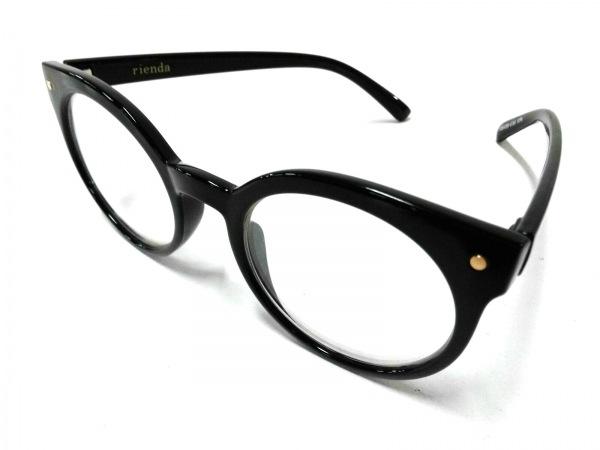 rienda(リエンダ) メガネ美品  黒 プラスチック