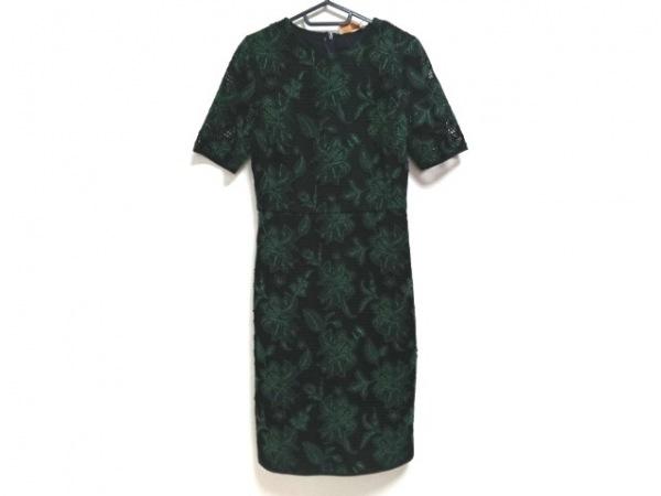 トリーバーチ ワンピース サイズ4 S レディース美品  ダークネイビー×グリーン 刺繍