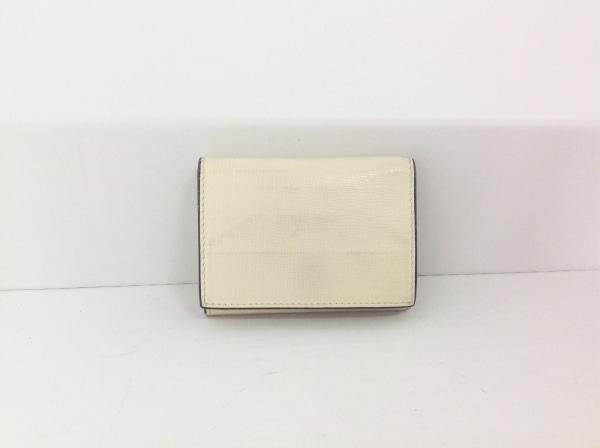 L'arcobaleno(ラルコバレーノ) 3つ折り財布 アイボリー STUNNING LURE レザー