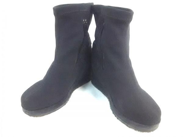RUCO LINE(ルコライン) ブーツ 34 レディース 黒 化学繊維
