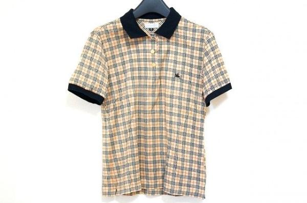 バーバリーズ 半袖ポロシャツ サイズM レディース美品  ベージュ×黒×レッド