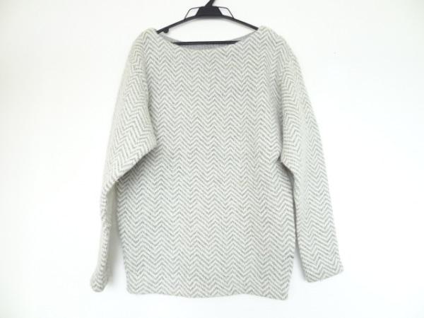 49アベニュージュンコシマダ 長袖セーター サイズ9 M レディース 白×グレー
