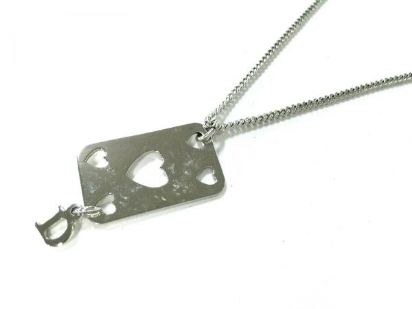ChristianDior(クリスチャンディオール) ネックレス美品  金属素材 シルバー ハート