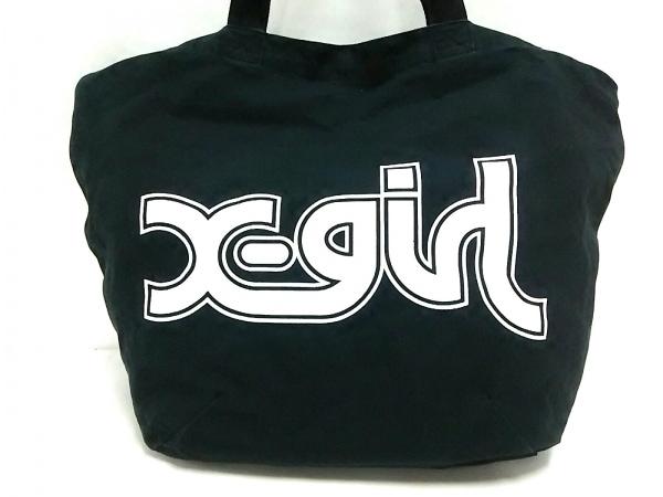 X-GIRL(エックスガール) トートバッグ 黒 キャンバス
