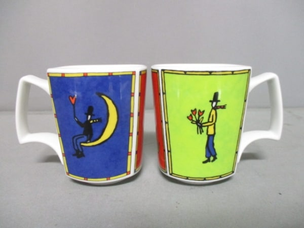 Rosenthal(ローゼンタール) マグカップ新品同様  白×マルチ ペアマグカップ 陶器
