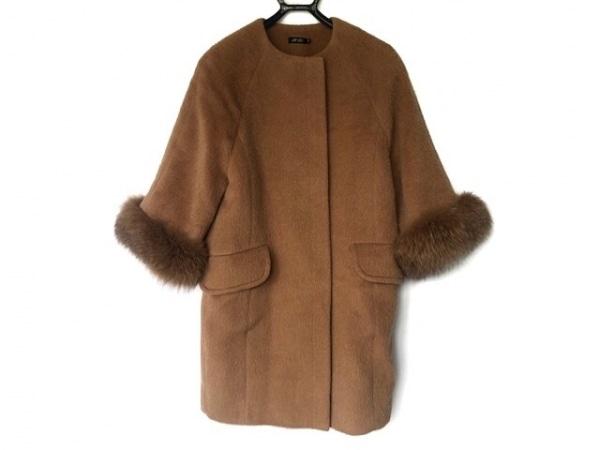 M.Fil(エム.フィル) コート サイズ36 S レディース美品  ライトブラウン ファー